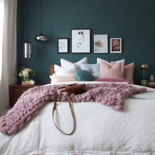 green hues bedroom