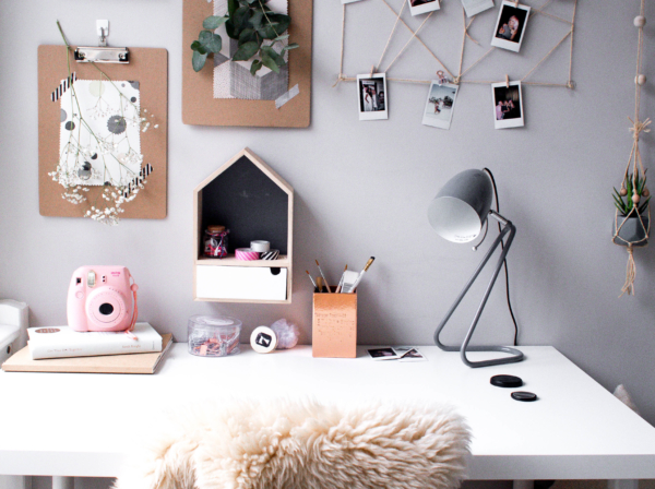 Scandinavian home office inspiration for renters and students