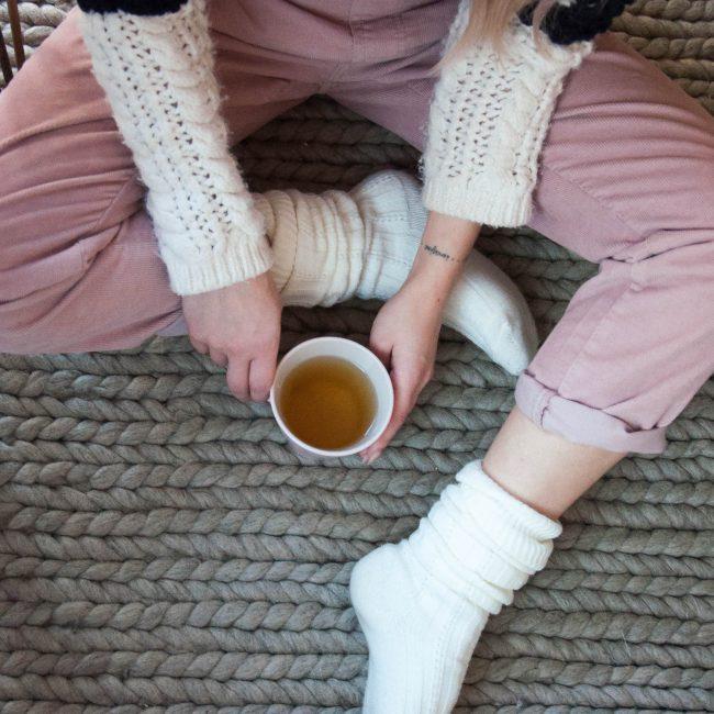 platted wool rug