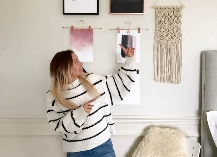 Effortless gallery wall without drilling into walls with Command. Plus behind the scene shots of styling photoshoot.